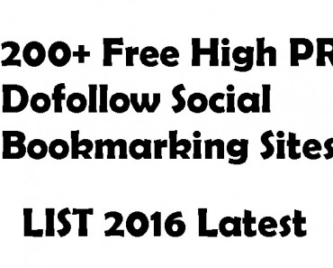 200+ Free High PR Dofollow Social Bookmarking Sites 2016