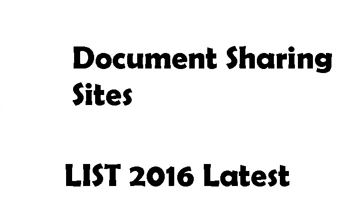 Document Sharing Sites List 2016