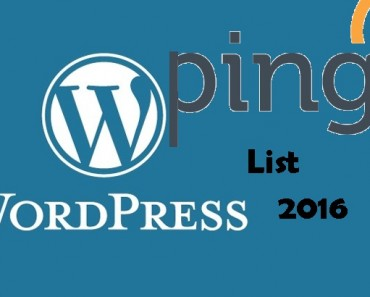 Wordpress Ping List 2016